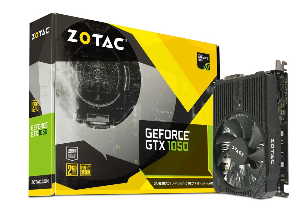 ZOTAC PCIE GEFORCE GTX 1050 MINI 2GB BOX GDDR5