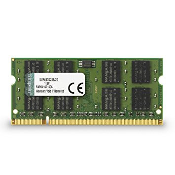 KINGSTON KVR 667MHZ DDR2 2GB SODIMM CL5 KVR667D2S5/2G