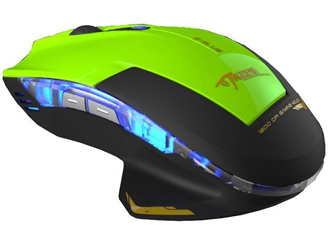 MOUSE E-BLUE OPTICAL MAZER EMS124GR TYPE-R GAMING MOUSE GREEN/BLACK