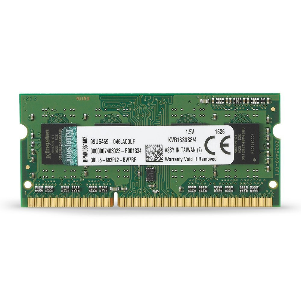 KINGSTON KVR 1333MHZ DDR3 4GB SODIMM CL9 SR X8 KVR13S9S8/4