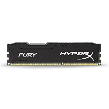 KINGSTON HYPERX FURY 1600MHZ DDR3 4GB CL10 BLACK HX316C10FB/4