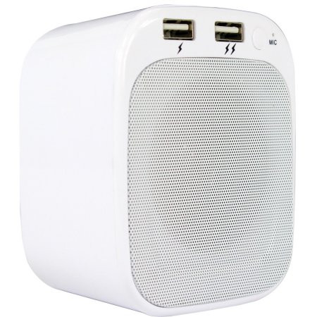 LYRIX PLUG 'N PLAY BLUETOOTH WALL SPEAKER WHITE