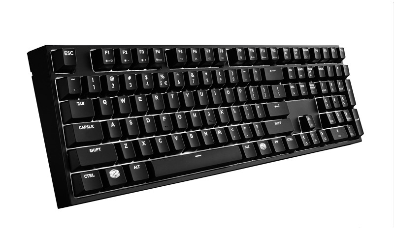 KEYBOARD COOLER MASTER MASTERKEYS PRO L MECHANICAL KEYBOARD WHITE LED CHERRY BROWN