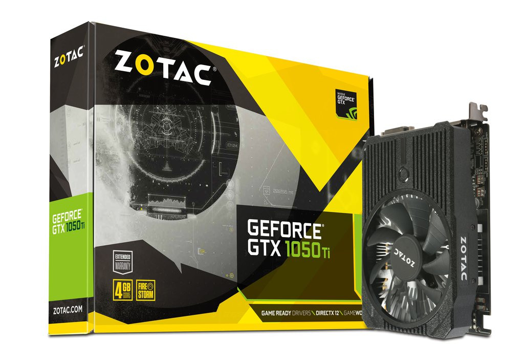 ZOTAC PCIE GEFORCE GTX 1050 TI MINI 4GB GDDR5 DP/DVI/HDMI