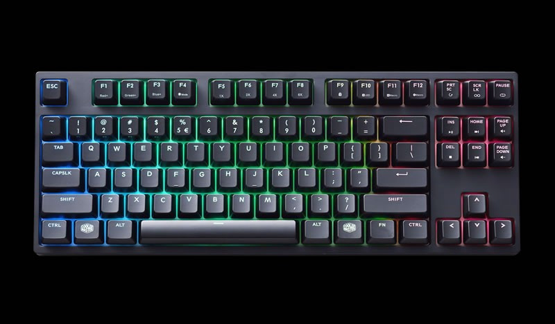 KEYBOARD COOLER MASTER MASTERKEYS PRO S MECHANICAL KEYBOARD RGB LED CHERRY  RED 9671aa9b0a135