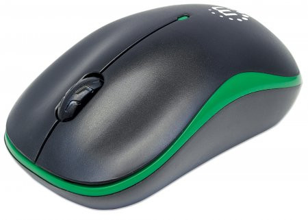 MOUSE MANHATTAN SUCCESS WIRELESS OPTICAL USB BLACK/GREEN