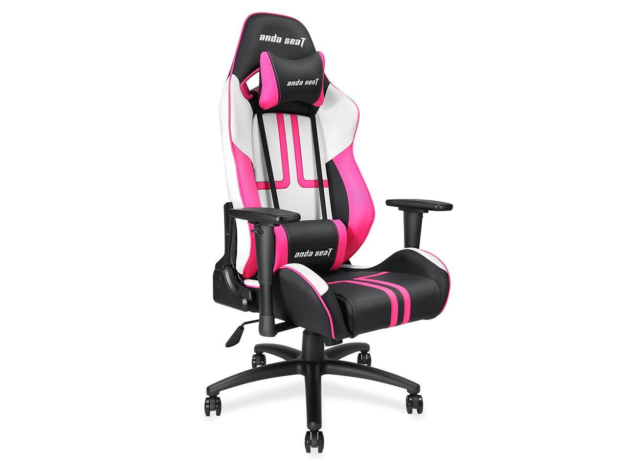 Brilliant Anda Seat Viper Gaming Chair Black White Pink Gaming Chairs Machost Co Dining Chair Design Ideas Machostcouk