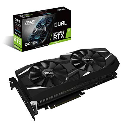 ASUS PCIE GEFORCE RTX 2080 DUAL OC 8GB GDDR6 3DP/HDMI/USB-C