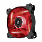 CASE FAN 120MM CORSAIR AF120 QUIET EDITION 52.19CFM 25.2DB DUAL PACK RED LED