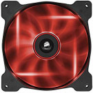 CASE FAN 140MM CORSAIR AF140 QUIET EDITION 66.4CFM 25.2DB RED LED