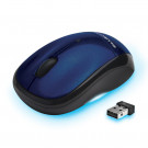 MOUSE BLUE DIAMOND WIRELESS TRACK MOBILE TRAVEL USB BLUE