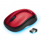 MOUSE BLUE DIAMOND WIRELESS TRACK MOBILE TRAVEL USB RED