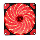 CASE FAN 120MM KOPPLEN SILENT RED 15 LED