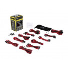 CORSAIR PRO KIT INDIVIDUALLY SLEEVED PSU CABLES RED/BLACK CP-8920155