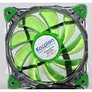 CASE FAN 120MM KOPPLEN SILENT RING GREEN 33 LED