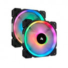 CASE FAN 140MM CORSAIR LL140 RGB LED PWM 51.5CFM 25DB TWIN PACK W/ NODE PRO