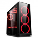 CASE ATX KOPPLEN Z3 TEMPERED GLASS BLACK RED LED NOPS