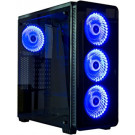CASE ATX KOPPLEN Z3 TEMPERED GLASS BLACK BLUE LED NOPS
