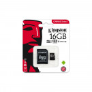 MICRO SD MEMORY CARD KINGSTON CANVAS SELECT 16GB SDHC C10 UHS-I SDCS/16GBCR