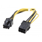 8IN 6PIN PCIE MALE TO FEMALE EXTENSION CABLE STARTECH PCIEPOWEXT