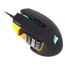 *REFURBISHED* MOUSE CORSAIR GAMING OPTICAL SCIMITAR PRO RGB 16000DPI BLACK/YELLOW