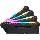 CORSAIR VENGEANCE RGB PRO 2666MHZ DDR4 32GB QUAD CL16 BLACK CMW32GX4M4A2666C16