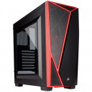 CASE ATX CORSAIR CARBIDE SPEC-04 TG BLACK/RED