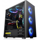 CASE ATX THERMALTAKE V200 TG BLACK BLUE LED CA-3K8-60M1WU-00